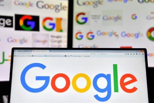 Google logo on laptop
